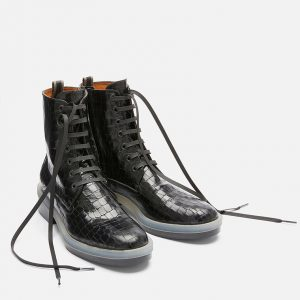 Bottines ROBYN NOIR CROCO